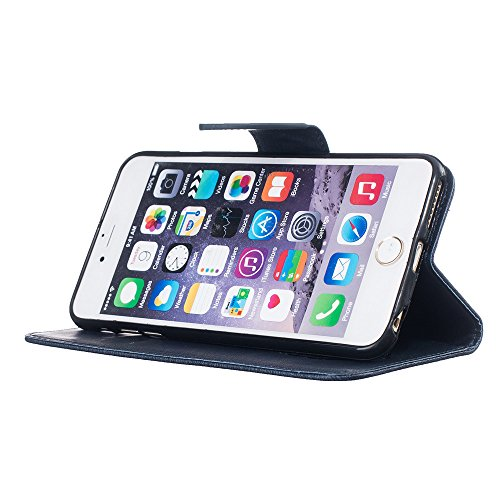 Nutbro iPhone 6S Plus Case, iPhone 6 Plus Case Wallet, Premium PU Leather Flip Folio Carrying Magnetic Protective Shell Wallet Case Cover for iPhone 6 / 6S (5.5) with Kickstand HX-iPhone-6-Plus-44