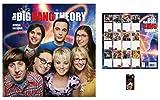 Set: Big Bang Theory, Offizieller Poster Kalender 2018 (30x30 cm) Inklusive 1x Fan-Schlüsselanhänger (6x4 cm)