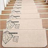 Kleitung Treppenstufen Matten können gewaschen werden Massivholz rutschfeste Matten selbstklebende Matten Treppenpolster Matten (Muster 1)