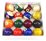Billar Pro Unisex Juego de Bolas de Billar de 2Pulgadas (Lunares y Rayas, Varios Colores