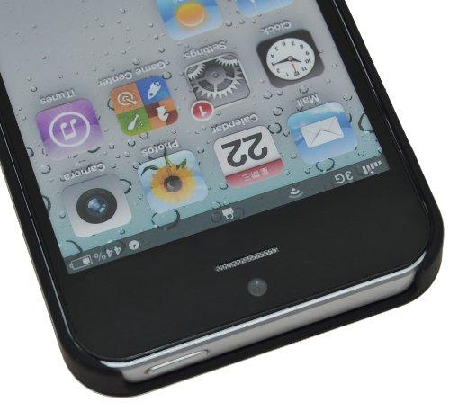 SunCase étui en cuir-coque (® coque de protection pour apple iPhone 5/5S Argyle-Antik