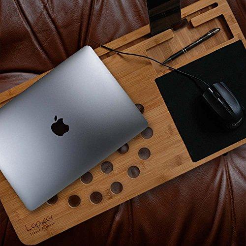 Laptop Unterlage Holz für Laptop, Laptopunterlage, Bambus Unterlage für Notebook,Bürohilfe Schreibtisch Accessoires