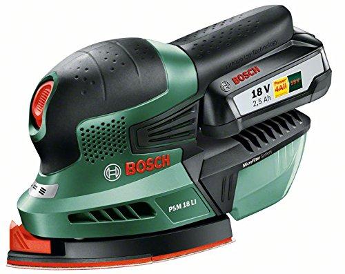 Bosch-Ponceuse-multifonction-Expert-sans-fil-PSM-18-Li-1-batterie-18V-25-Ah-3-feuilles-abrasives-technologie-Syneon-06033A1303