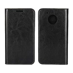 DENDICO Moto G5 Hülle, Premium Flip Leder Brieftasche Handyhülle, Wallet Tasche Schutzhülle für Moto G5