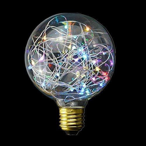 SUAVER LED E27 Edison Lampe G95 Vintage Lampe Glühlampe Lichterkette Filament Lampe,85-265V Deko Glühbirne für Haus Café Bar Laden (85-265V) (Multi)