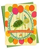 Schildkröte Hochformat Holz Geburtstag Karte von Night Owl Papier Waren