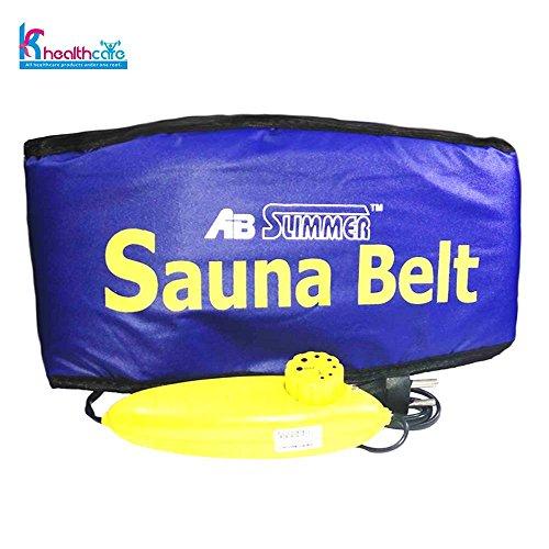 KS Healthcare Sauna Belt Ab Slimmer Belt Slimming Belt (Blue)  available at amazon for Rs.249