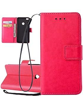 Hülle für Huawei P8 Lite 2017, Tasche für Huawei P8 Lite 2017, Case Cover für Huawei P8 Lite 2017, ISAKEN Farbig...