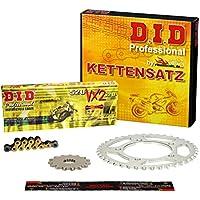 Kettensatz / Kettenkit Yamaha YFZ 450 R, 2009-2013, Typ AJ42W, DID X-Ring (VX2 gold) extra verstärkt