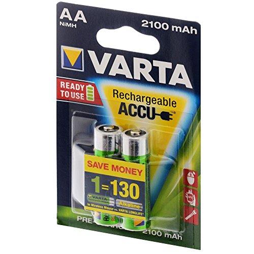 Preisvergleich Produktbild VARTA Ready2Use Akku Mignon AA 2100 mAh 2er Pack Accu NiMH, 56706, HR6