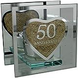 ukgiftstoreonline - Portavelas de regalo para 50 aniversario de boda (bodas de oro)