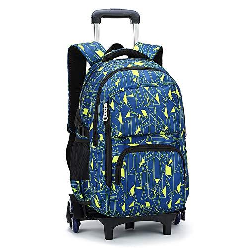 XSWE Rollender Rucksack, Trolley-Rucksack, Roll-Rucksack Rolling Carry-on-Gepäck-Reise-Duffel-Tasche, SchulTaschen mit Rädern abnehmbar für Teenager-Schüler 6 Räder,style2