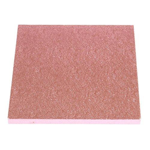 35,6 cm carré Rose clair pour gâteau