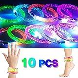 2win2buy 10 x LED Armband, Leuchtender Armschmuck Leuchtarmband Blinkend Glänzend für Party Radsport Club Disco Joggen KTV Konzert Spielzeug