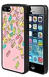 Ballerine iPhone 5S 5Se Coque de Protection, résistant aux Chocs TPU Souple Premium PC de Protection personnalisée Motif Bumper pour iPhone 5S 5Se-Black Cigarette Lighter