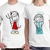 DreamBag Couple T Shirts - Devil and Angel Unisex Couple T-Shirts