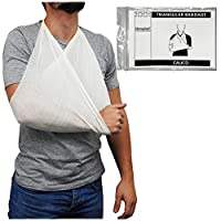 Steroplast Calico Cotton Triangular Arm Sling Shoulder Support Bandage Dressing, 90cm x 90cm x 127cm
