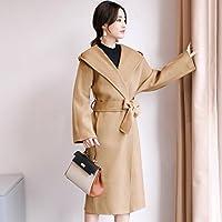 W coat Autunno e Inverno Lungo Cappotto Donna Doppio Velluto Cappotto Donna  Femmina con Cappuccio in 10ceb8b0baa