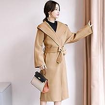 W coat Autunno e Inverno Lungo Cappotto Donna Doppio Velluto Cappotto Donna  Femmina con Cappuccio in 343704a41cd