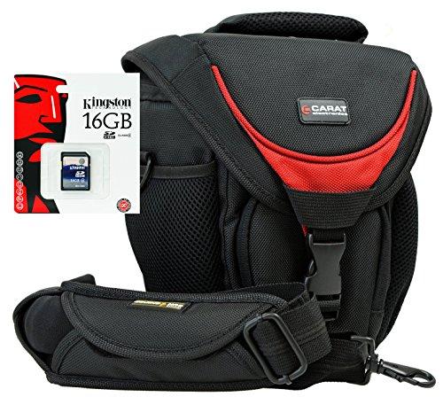 Foto Kamera Tasche Halfter Professional TOUGH SNIPER Gurt Set mit 16GB SD Karte für Canon EOS 5D 7D 1300D 760D 750D 700D 100D 80D