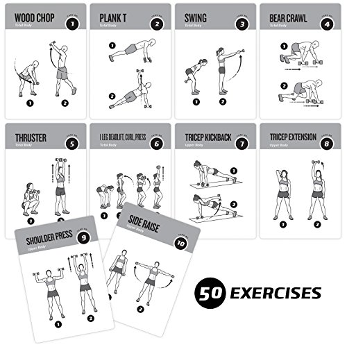Dumbbell Exercise Cards –