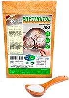 Eritritol 100% Natural Envase Ecologico 1Kg Edulcorante Cero Calorias | Ideal para Reposteria, y Dietas |DULCILIGHT el...