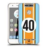 Head Case Designs Zyan Und Orange Speed Soft Gel Hülle für ZTE Blade V8 Lite