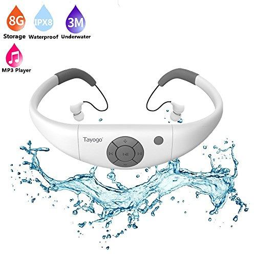 Waterproof mp3 Player swimming, Tayogo waterproof 8GB for Swimming Headset,sports headset, under Water Music Player