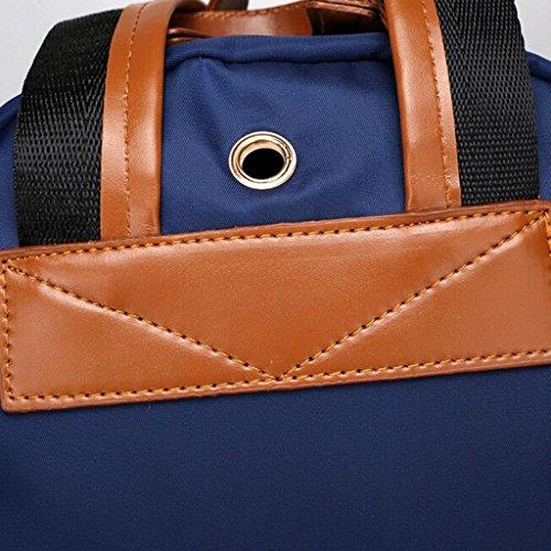 Z&YF Damenbeutel Freizeitpaket Multifunktion Rucksack Laptoptasche schwarz blau Blue