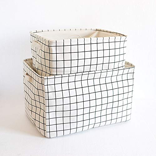 XXY216 Hochwertige Baumwolle und Leinen Eva Bundle Box Canvas Sammlung Box Kleidung Finishing Box erhöhte Verdickung 49 x 36 x 29cm Baig -