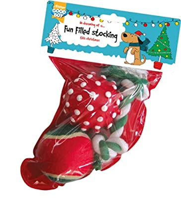 Good Boy Dog Toy Stocking