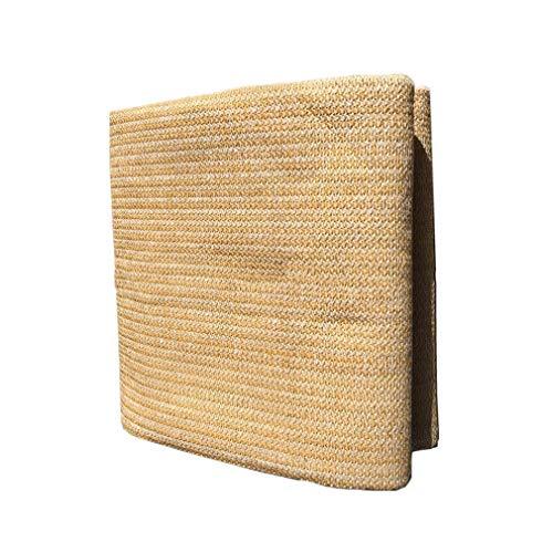 Die Kühlung Additiv (ALGFree Schattierungsnetz Schattengewebe UV-beständig Netzverschlüsselung Isolationswärme Balkon Sonnenraumschattierungsrate 90% Gold Hanffarbe Senden Sie Das Seil (Farbe : Gold, größe : 2.3×2m))