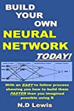 Build Your Own Neural Network Today!: With an EASY to follow process showing you how to build them FASTER than you imagined possible using R