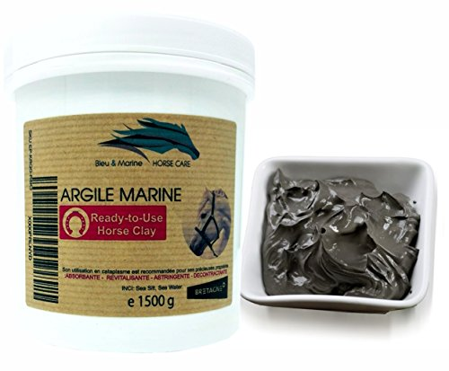 Lehm - Paste für Pferde Sea Clay for Horses 1500g Aktiver Seeschlamm Regenerationspaste