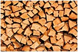 Wallario Poster - Holzstapel gehackt - Holzscheite für den Kamin in Premiumqualität, Größe: 61 x 91,5 cm (Maxiposter)
