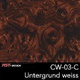 MST-Design Wassertransferdruck Folie I Starter Set Klein I WTD Folie + Dippdivator/Aktivator + Zubehör I 4 Meter mit 50 cm Breite I Wurzelholz Holz Holz-Optik I CW 03-C