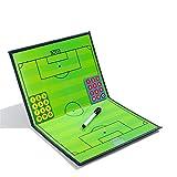 RoseFlower Trainer Taktikmappe Fussball, Professional Faltbares Fußball Taktikmappe Taktiktafel Coach-Board mit Magnete, Stifte und Radiergummi (Größe: 44cm x 32cm)
