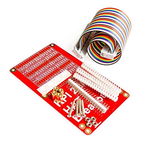 UIOTEC For 52Pi Raspberry Pi 2 model B/B+/A+ HAT Breakout Shield DIY GPIO  Expansion Board with 40P Rainbow cable Kit