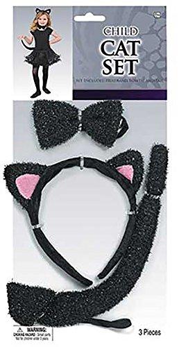 Kinder-Kostümset Katze (Katze Kostüm Zubehör Halloween)