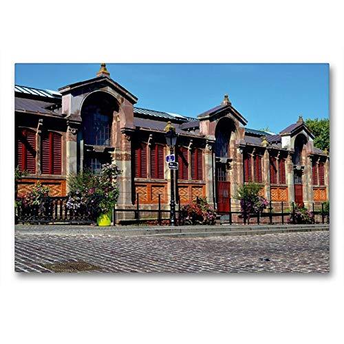 Premium Textil-Leinwand 90 x 60 cm Quer-Format Covered Markt von Colmar | Wandbild, HD-Bild auf Keilrahmen, Fertigbild auf hochwertigem Vlies, Leinwanddruck von Ulrike Kröll