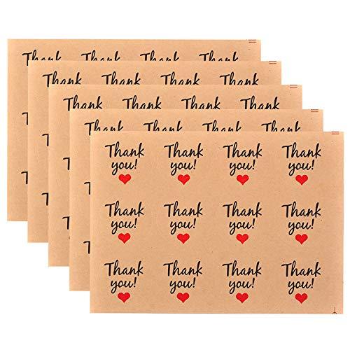 360 piezas Gracias Etiqueta Adhesiva