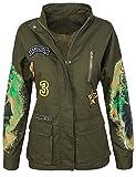 Damen Army-Style Jacke Übergangs Jacke D-291 [NK-3126 Khaki L]