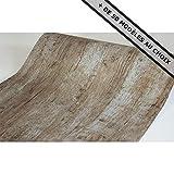 ANTEVIA Papier adhésif sticker mur meuble autocollant - 45cm x 500 cm (Bois vieilli Marron)