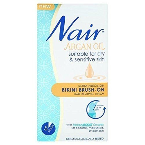 Nair Ultrapräzisions Bikini Pinsel auf Haarentfernungs-Creme (60 ml) - Packung mit 6 (Bikini-blase)