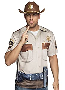 Boland 84397 photorealis tisches Camiseta Sheriff, Mens, XL