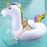 Flotador Inflable para Piscina de Unicornio - Beby 2017 Verano Nuevo Diseño Seguro Material Clásico Anillo de Natación para Adultos Mujeres Niños Niños (Gran unicornio)