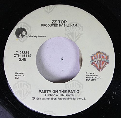 ZZ TOP 45 RPM PARTY ON THE PATIO / SLEEPING BAG