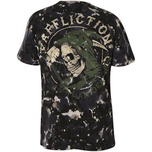Affliction T-Shirt Faster Than Death Schwarz Grau