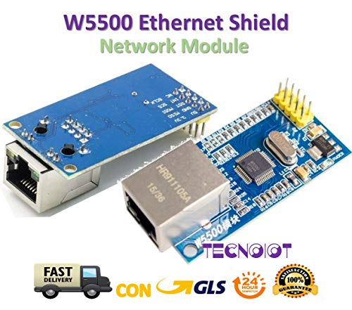 TECNOIOT W5500 Ethernet Network Module TCP/IP 51 / STM32 MCU Over W5100