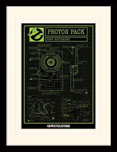 sters - 3, Proton Pack Gerahmtes Poster Für Fans Und Sammler 40 x 30 cm (Ghostbuster Proton Pack)